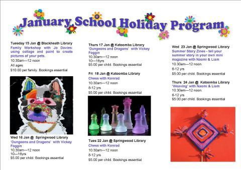 January School Holiday Brochure 2