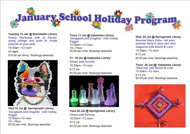 January School Holiday Brochure 2