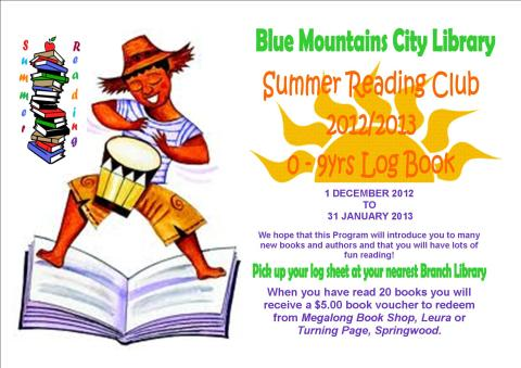 Summer Reading Poster 0 - 9yrs old
