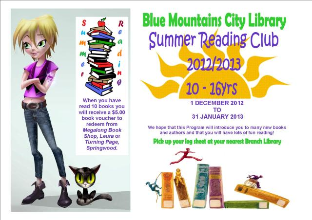 Summer Reading Poster for 10 - 16yr olds