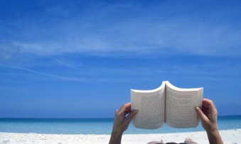 reading on beach 03
