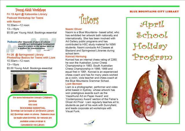April School Holiday program 1