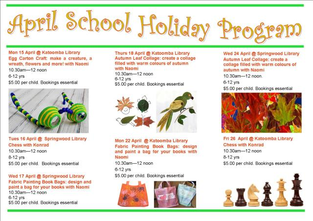April School Holiday program 2