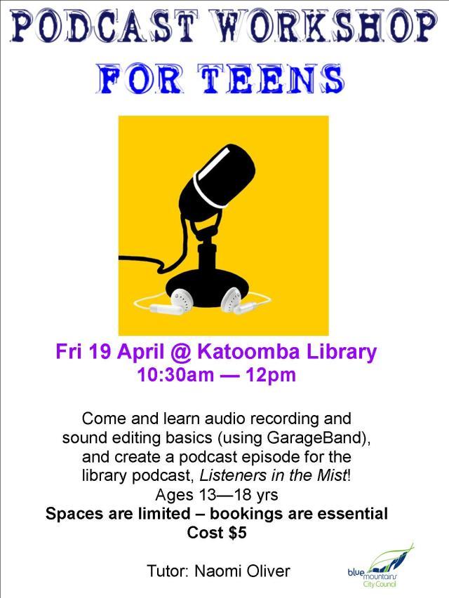 YA Podcast Workshop Poster