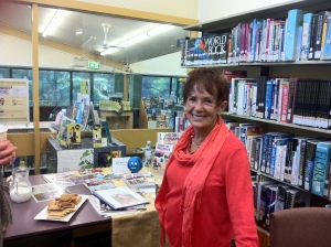 Author Maggie Counihan at Blaxland Library.