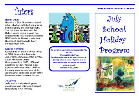 July School Holiday program 1