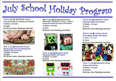 July School Holiday program 2