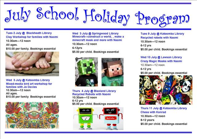 July School Holiday program 2