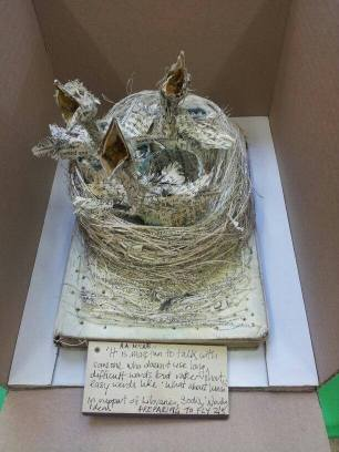 Ed book sculpture
