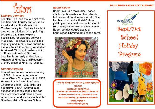 October School Holiday program 1