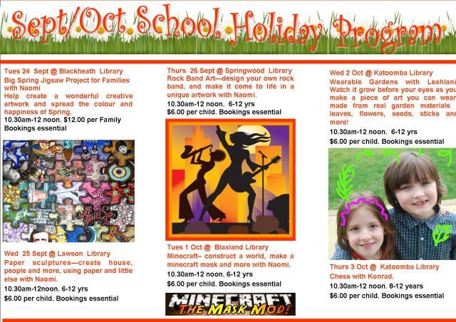 October School Holiday program 2