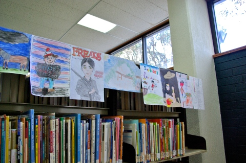 Display of entries at Springwood Library
