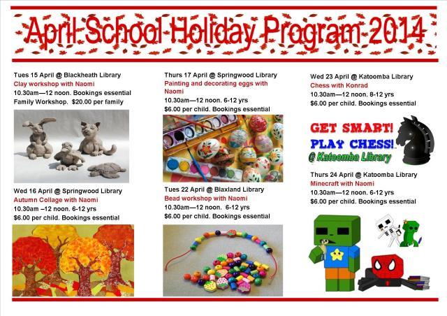 2April School Holiday program