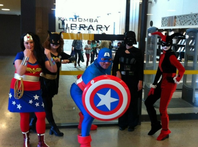 Free Comic Book Day last year @ Katoomba Library