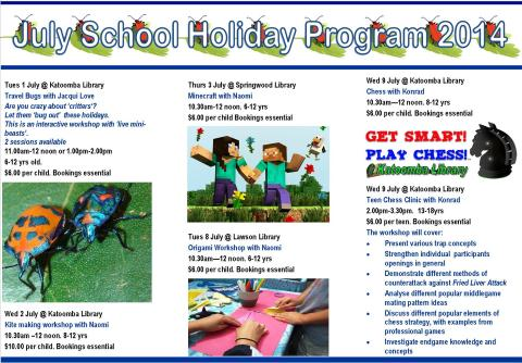 July School Holiday program2