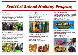 Sept-Oct School Holiday program2