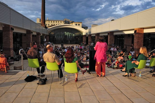 Poetry Under the Stars 2012 in the Blue Mountains Cultural Centre Courtyard