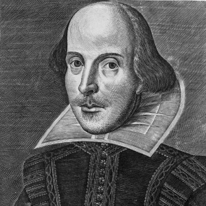 The Droeshout Portrait of William Shakespeare, from the First Folio