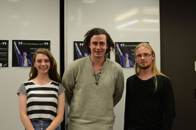 APS 2016 l-r Chloe Humphrys, Philip Wilcox, Lewis-Alan Trathen