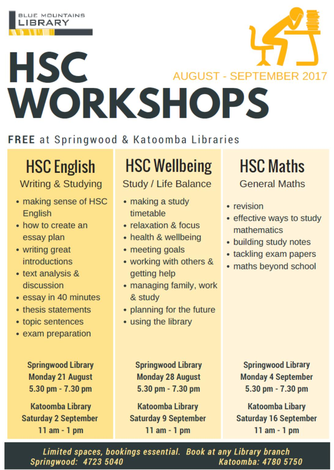 The Springwood Library Workshops Are On Monday Evenings From 5:30pm7:30pm  On Monday 21st August, 28th August And 4th September As This Workshop Is  Taking