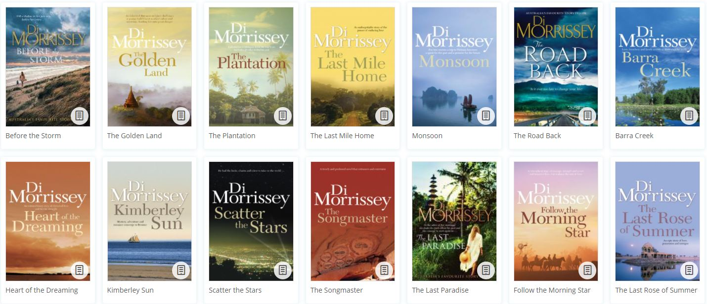 Carolyn's books of the month May Di Morrissey